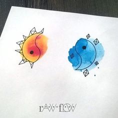 Yin to My Watercolor Yang - Super Cute Matching Tattoo Ideas For You and Your Best Friend - Livingly