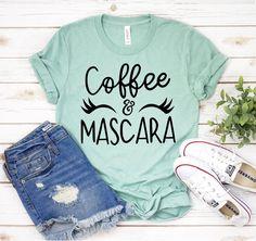 T Shirts With Sayings, Mom Shirts, Cheerleading Gifts, Cheerleader Gift, Hiking Shirts, Christian Shirts, Bella Canvas, Spun Cotton, Rib Knit