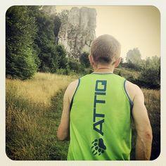 męska koszulka biegowa Attiq