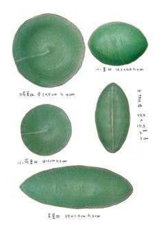 自然有韻 。綠色葉皿—有川京子的器