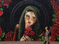 Lady of the Valley Street Mural by Levi Ponce ~ Pacoima, CA