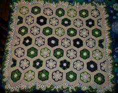 Ravelry: kayel62's African Flower Hexagon Baby Blanket - what? and african flower blanket that could actually work for a boy?!
