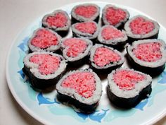 heart shaped sushi | Meatables