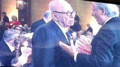 Rupert Murdoch at Graham birthday