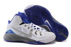 the best attitude 14c68 a55ab Mens Nike Hyperdunk 2014 White Dark Grey-Royal Blue Buy Nike Shoes, Nike