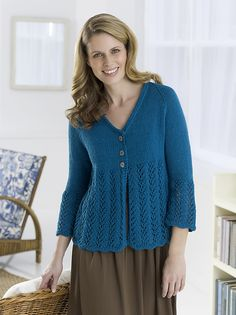 Cardigan to Love Pattern - free on Ravelry