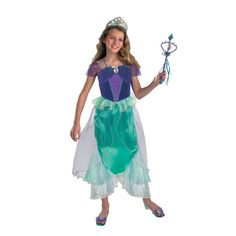 Prestige Ariel Little Mermaid Girls Halloween Costume - Medium