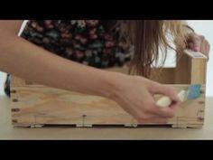 Manualidades estante con caja de fruta - YouTube