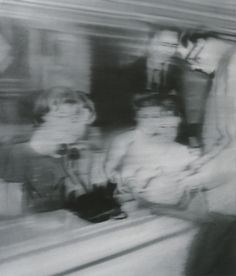 "Gerhard Richter, ""Reisebüro"" (1966), 150 cm x 130 cm, oil on canvas  In 1966, a few years prior to Richter's first experimentations with abstractionism, the artist declared: ""I steer clear of definitions. I don't know what I want. I am inconsistent, non-committal, passive; I like the indefinite, the boundless; I like continual uncertainty."""