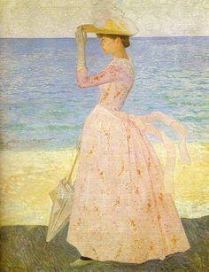 Аристид Майоль (фр. Aristide Maillol) (1861–1944) Женщина с зонтиком, 1895