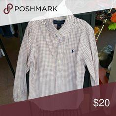 Ralph  Lauren button down shirt Button  down  shirt - Orange & Blue plaid Ralph Lauren Shirts & Tops Button Down Shirts