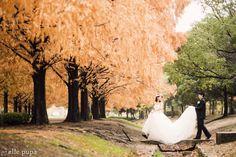 琵琶湖の畔で*鮮やか前撮り |*ウェディングフォト elle pupa blog*