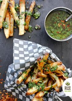 Want to change your snacking line-up for football season? Our Oven Baked French Fries with Chimichurri Sauce won't fumble on flavour and are a healthier alternative to store-bought fries.