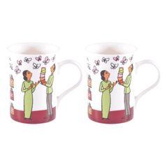 Set de deux mugs dans boite
