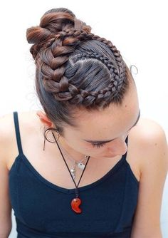 yarn hairstyles hairstyles for kids hairstyles on yourself hairstyles thin hair updos how to hairstyles with 4 packs of hair updo hairstyles african american hairstyles black woman Ballet Hairstyles, Dread Hairstyles, Braided Hairstyles Updo, Braided Updo, Pretty Hairstyles, Girl Hairstyles, Hairstyles 2018, Updo Hairstyle, Protective Hairstyles