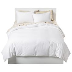 Change the look of your room with new bedding such as the Solid Cotton Blend Duvet Cover Set from Room Essentials. This duvet cover and pillowcase lets you rebuild your bedroom starting with the basics. White Duvet Covers, Duvet Cover Sets, Textured Duvet Cover, Target, Bed Linen Design, Luxury Bedding Sets, Modern Bedding, Room Essentials, Comforter Sets
