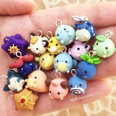 EDIT: All SOLD OUT, thank you so much! These are all the that will be available for tomorrow restock at 2 PM EST time!So cute, I bet Carolyn would like them!if you are saturated and want to hone creativity, then try polymer clay ideas here.Image may Fimo Kawaii, Polymer Clay Kawaii, Fimo Clay, Polymer Clay Projects, Polymer Clay Charms, Polymer Clay Creations, Clay Crafts, Kawaii Crafts, Polymer Clay Miniatures
