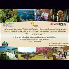 Miér 21/Jun - 10 hs  #Salta #Agenda #Evento #Prensa #Noticias #Medios #Turismo #TurismoParaguay #Amazonas #Paraguay #AmazonasParaguay #CentroCulturalAmerica #QueHacemosSalta #PasaLaData Toda la info que necesitas la podes encontrar aquí  http://quehacemossalta.com/