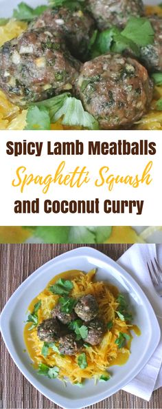 In this twist on spaghetti and meatballs, spicy garlic lamb meatballs take center stage to a backdrop of creamy coconut curry sauce and tender roasted spaghetti squash. Visit the Butter For All blog to get the easy weeknight recipe!