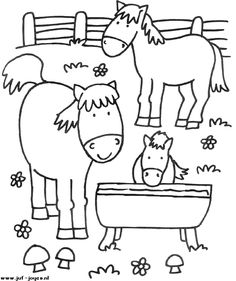 Horses coloring pages Farm Animal Coloring Pages, Coloring Sheets For Kids, Cute Coloring Pages, Free Printable Coloring Pages, Coloring Books, Kids Coloring, Farm Quilt, Art Drawings For Kids, Farm Theme
