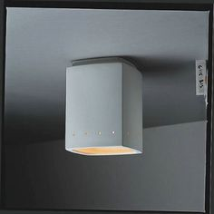 Rectangle Flush Mount Ceiling Light with Perforations