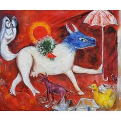 Marc Chagall - The cow with parasol