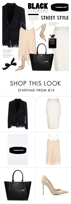 """""""Black chokers street style"""" by cly88 ❤ liked on Polyvore featuring Brunello Cucinelli, River Island, Urban Renewal, Michael Kors, Gianvito Rossi, StreetStyle, StreetChic, streetstyleinspiration, styleonthestreet and blackchokers"""