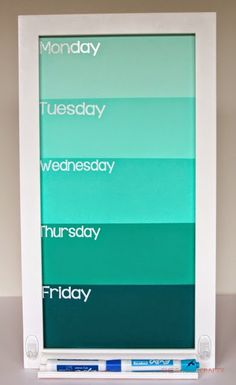 She's {kinda} Crafty: Back to School with Michaels   Ombre Command Center