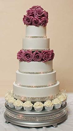 Dream wedding cake but in 4 tiers and no cupcakes at the bottom.  Actually ordered the cake stand :)