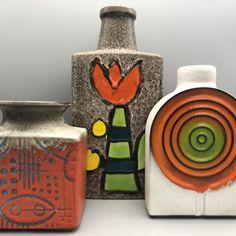 Vintage Vases, Retro Home, Pottery Ideas, Lava, Art Decor, Germany, Mid Century, Birds, Creative