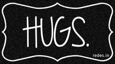 hugs Do It Yourself – Inspirational Wall Art Using Shoe Box Lid #ShoeBoxLid #Inspirational #Quotes #WallArt #FreeTemplate