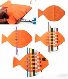 Цветные рыбки из бумаги - Поделки с детьми | Деткиподелки