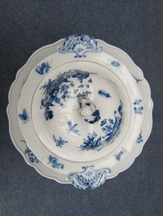 Meissen Soup Tureen and Plate Decorated with German Flowers in Blue White 19th | eBay