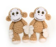 To crochet the little monkeys, you will need: