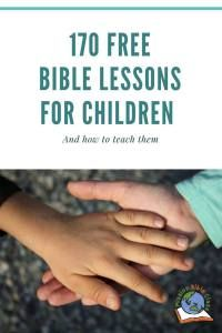 170 Free Bible Lessons for Children Use to tell stories from Joshua, Judges and Ruth Youth Bible Lessons, Toddler Bible Lessons, Kids Church Lessons, Preschool Bible Lessons, Bible Object Lessons, Creation Bible Lessons, Bible Topics, Bible Games, Preschool Music