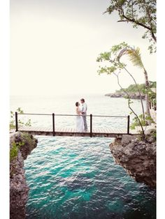 If I ever get married, I would like a destination wedding.  This is Rockhouse Hotel, Negril, Jamaica.  You say your 'I dos' on the bridge.  Gorgeous
