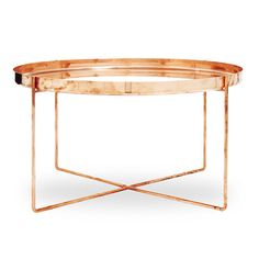 Tray Très Bon Copper Side Table. I love, but 2395 is pretty hefty...I think I can make with a metal tray I found at HD that can be spray painted and with copper pipe...