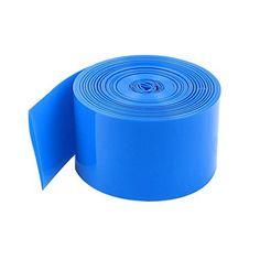 Heat Shrink Wrap 10 Meters 29.5mm Width PVC Blue for 1 x 18650 Battery