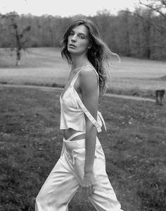 Daria Werbowy for Marie Claire France by Vanmossevelde   N
