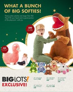 Big Lots Toy Books 2018 Ads and Deals Browse the Big Lots Toy Books 2018 ad scan and the complete product by product sales listing. Black Friday News, Giraffe, Elephant, Books 2018, Softies, Playroom, Coupons, Dinosaur Stuffed Animal, Plush