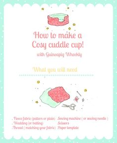 DIY Cosy Cuddle Cup Tutorial For Small Pets - This would be great for my chinchillas.