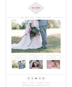 Website design for Ali Mac Photography - Elle & Company
