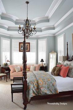 Winter Bedroom decor to Spring decor