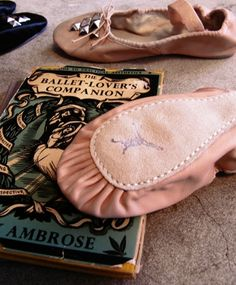 Studded ballet slippers (with vintage book). Shoes by Bona Drag.