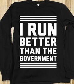 And I am a terribly runner, PM Abott.
