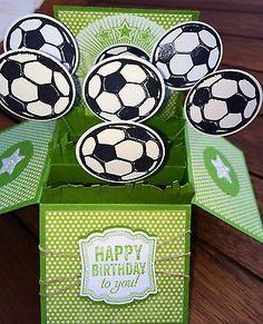 Stampin Up Handmade Card Happy Birthday Soccer Fans   eBay