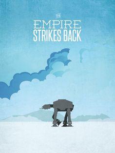 Star-Wars-affiche minimaliste empire contre attaque
