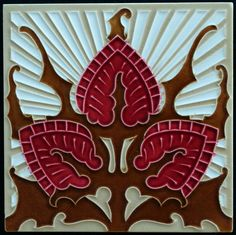 Gilliot & Cie Hemiksem - Art Nouveau tile - Catawiki