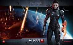 Commander Shepard in the Mass Effect 3 video game. Did I mention how much I loooove Mass Effect? This game ROCKS! :)