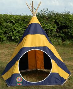 A King amongst play tents - The opulent Blue u0026 Gold Six Stripe from Mohican Tents & Kids Teepee by Mohican Tents: www.mohicantents.co.uk | Baby Love ...
